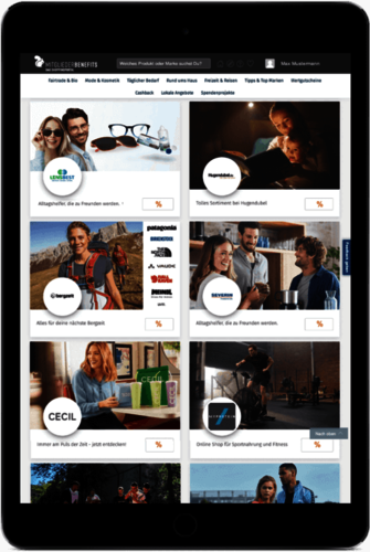 iPad - MitgliederBenefits - Rabattplattform für Vereine & Verbände - ehrenamt24