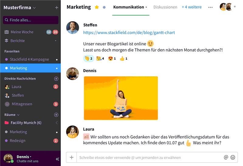 Chat - Kommunikation - Projektmanagement-Tool für Vereine & Verbände - ehrenamt24