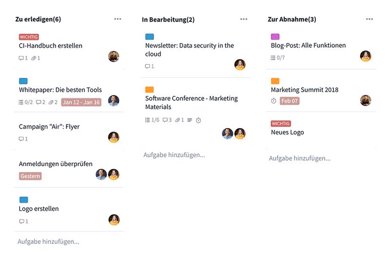 Kanban-Board - Projektmanagement - Software für Vereine & Verbände - ehrenamt24